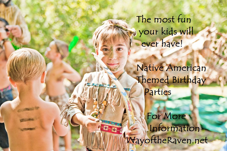 Good times at a Native American or pioneer themed birthday party!