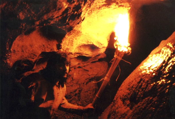 Learn to use torches to explore caves.